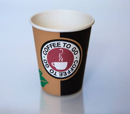 Beautiful cardboard disposable cup for coffee and other.