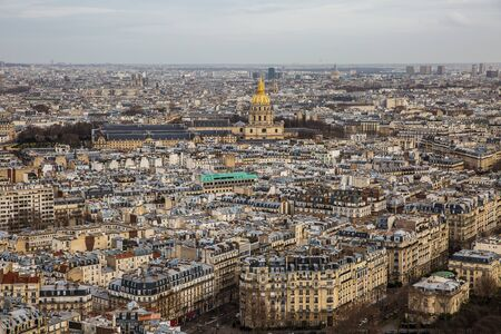 Aerial view of Paris city Stock Photo