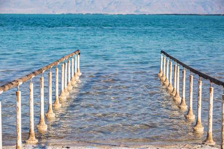 Beautiful photo coast of the Dead Sea, Israel.