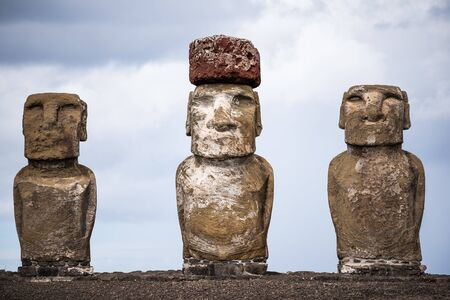 Landscape picture from easter island