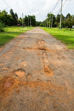 deficient: Damaged road, Thailand