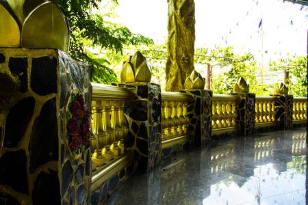 cement pole: Beautiful fence in Wat Pa Thamma Utthayan, Khonkean, Thailand Stock Photo