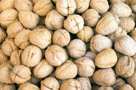 circassian: a lot of circassian walnuts with shell Stock Photo