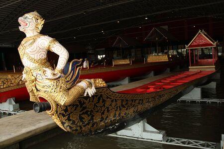 barge: The head of royal barge, Bangkok, Thailand. Stock Photo