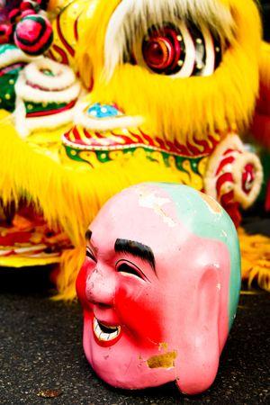 Traditional joker mask. photo