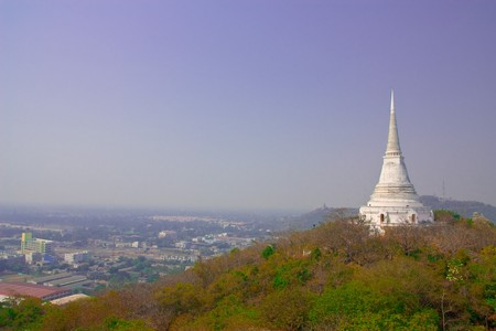 Temple in the palce on the mountain, Petchaburi provice, Thailand. Stock Photo - 4383374