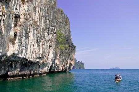 Boat in southern sea of Thailand photo