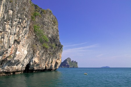 Canoists in southern sea of Thailand photo