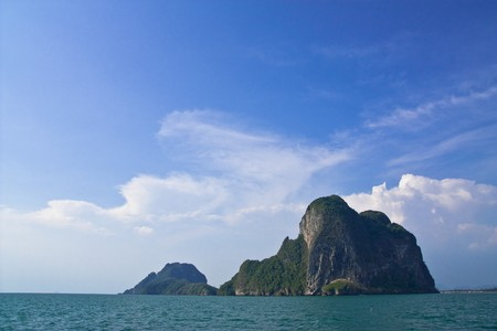 Island in the sea of southern Thailand. photo