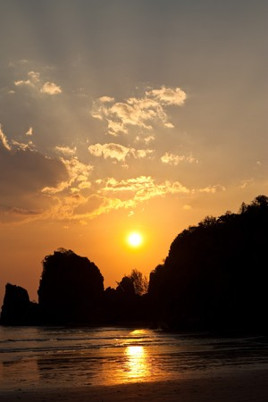 ling: Yong Ling beach, Thailand at sunset