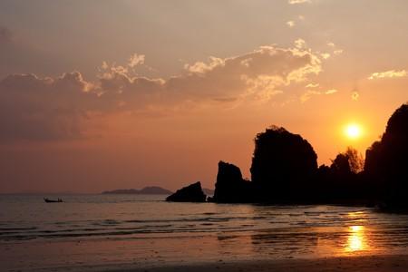 Yong Ling beach, Thailand at sunset photo