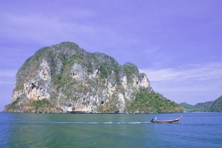 amazing stunning: Boat and island
