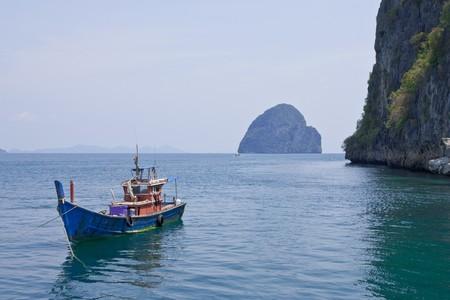 Boat and island photo