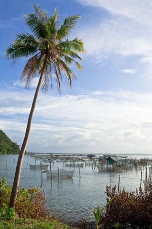 Fisherman village around Yor island, Songkhla province, Thailand photo