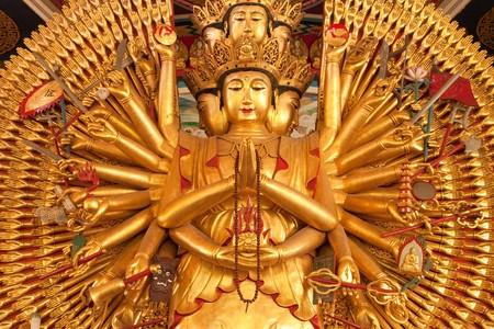 Kuan Im U Lai, traditional supreme Chinese god. photo