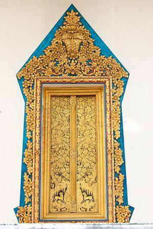 venerable: Traditional Thai style art of church window