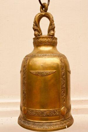 Thai style brass bell photo