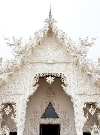 White church of Wat Rong Khun, Chiang Rai, Thailand. photo
