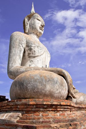 ruination: Sukhothai historical park, the past capital of Thailand