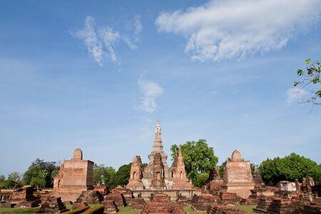 ruination: Sukhothai historical park, former capital of Thailand