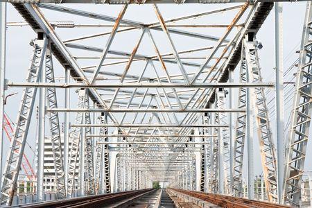 nonthaburi province: Train bridge, Nonthaburi province, Thailand