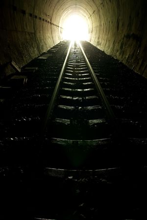 light tunnel: Light of the end of train tunnel