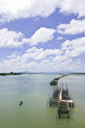 Fisherman village at Lam Sing cape, eastern Thailand Stock Photo - 5080003