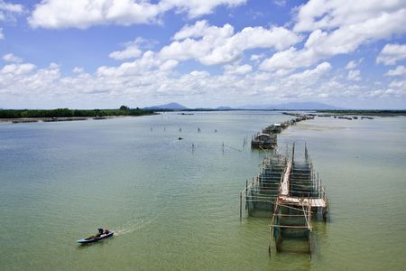 Fisherman village at Lam Sing cape, eastern Thailand photo