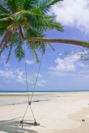 Scenic view of Thailand beach photo
