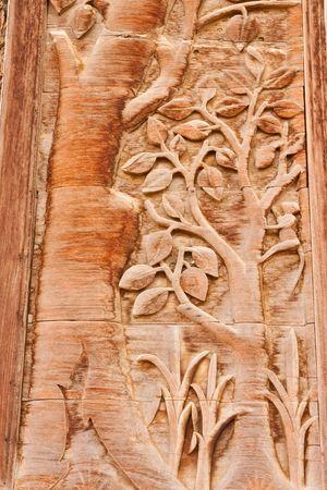 tallado en madera: M�s de 80 a�os de estilo tradicional tailand�s teakwood grabado