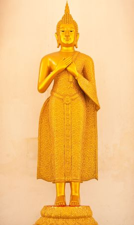 buddha image: Standing Buddha image Stock Photo