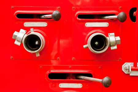 motor ardiendo: Partes de cami�n de bomberos