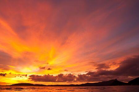 Sunset at Ao Nang bay, south of Thailand photo