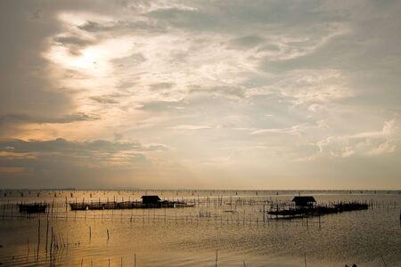 Fisherman hose in Thai sea, south of  Thailand photo