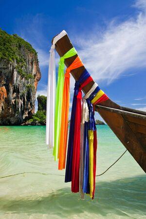 Boat in Rai Lay beach, south of Thailand