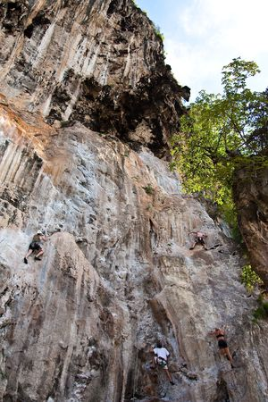 Mountain climber, Rai Lay beach, south of Thailand