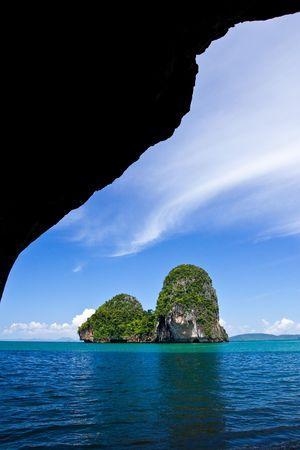 View of Rai Lay beach, south of Thailand