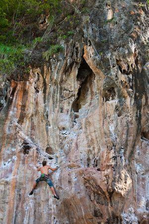 rai lay: Mountain climber, Rai Lay beach, south of Thailand