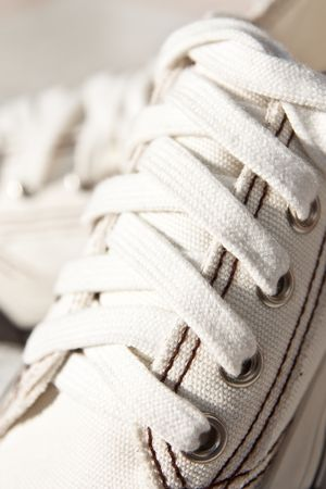 White canvas shoes Stock Photo - 5835265