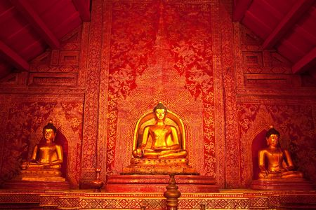 wat: Buddha image in Wat Phra Sing, Chiang Mai province, Thailand