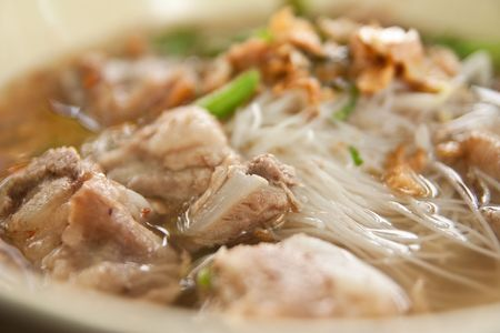 Varkensvlees noodle Stockfoto