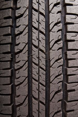 tyre tread: Pattern of car tire Stock Photo