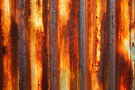 Texture of rusty metal plate photo