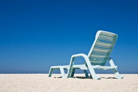 Beach chair on Lipe island, south of Thailand photo