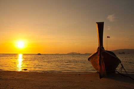 Sunset at Lipe island, south of Thailand photo