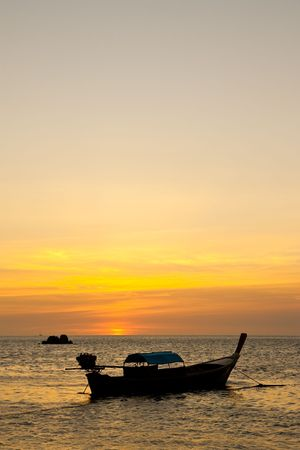 Sunset at Lipe island, south of Thailand Stock Photo - 6617276