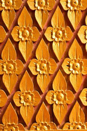 Native Thai style carving art photo