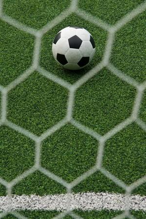 Artificial grass soccer field Stock Photo - 6983437