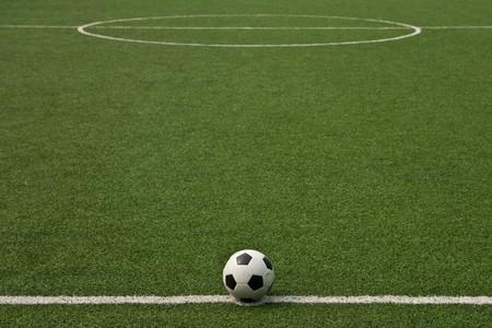 cancha de futbol: Campo de f�tbol de c�sped artificial