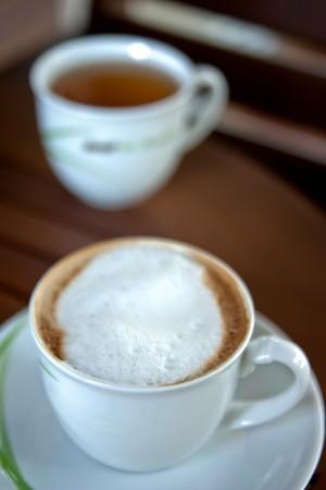 cappaccino: White coffe cup